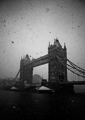 Apocalyptic Tower Bridge (Iestyn Roberts) Tags: winter snow london towerbridge snowfall