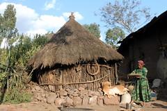 Life - African Style (Alan1954) Tags: africa holiday hut ethiopia 2009 lalibela mudhut