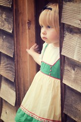 vintage 11 (pixidance) Tags: girl hat vintage village dress bob blond blonde blocks merrygoround headband cutetoddler