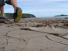 Cracked Aberdaron Adidas (philclewlow) Tags: beach adidas cracked aberdaron