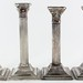 S27. Two Pairs of Silverplate Corinthian Candlesticks
