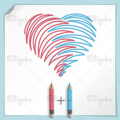 Hand Drawn Heart (oliycka) Tags: life pink blue wedding white holiday abstract color art love illustration work paper creativity design sketch couple paint heart graphic symbol drawing decoration craft marriage objects valentine romance line celebration card instrument valentines romantic imagination colored plus hobbies crayon shape vector tool striped concepts engagemen pencilheartshapecoloredcolorartobjectsdrawingcrapencil