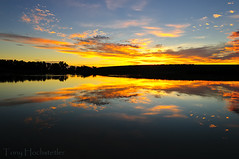 Ft Collins Dawn - Explored (Tony Hochstetler) Tags: blue lake water sunrise dawn nikon colorado daybreak ftcollins d300 nikor1024mm