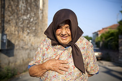 (nasos zovo) Tags: road street old portrait woman colour smile happy person one hands village farm greece only farmer villager peloponissos kampos