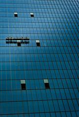 Window Washers (qbkingfilm) Tags: blue color streetphotography windowwashers summicron50 leicam8