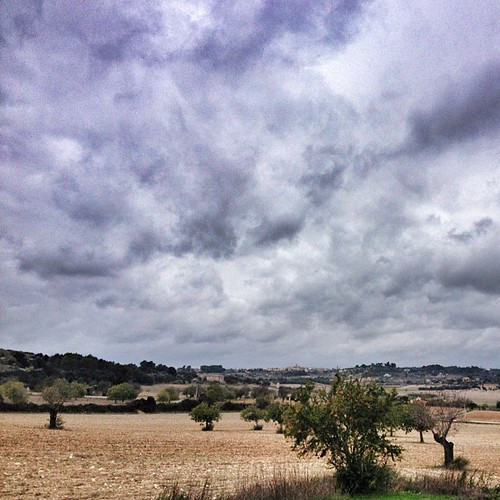 Amazing clouds today in #mallorca, having a walk and resting, my head needs so... #rural