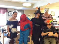 spidy takes a good look (Points West Living) Tags: halloween fun good evil enjoy lloydminster spidermen