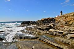 DSC_0249 (Michael P Bartlett) Tags: ocean sea sky lighthouse water clouds rocks waves seascapes newengland rhodeisland seacoast beavertaillighthouse