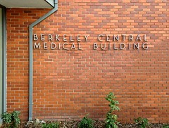 Berkeley Central Medical Building sign (Stewf) Tags: sign metal berkeley lettering lowwaistedletters