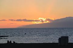 Los Cristianos, Tenerife (Kristel Van Loock) Tags: travel sunset sky holiday clouds zonsondergang spain tramonto nuvole tenerife nuages canaryislands viaggio coucherdesoleil islascanarias canarischeeilanden loscristianos lescanaries