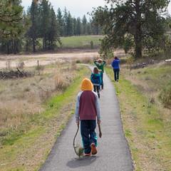 Leading the Way (Ed Suominen) Tags: kids washington raw path pacificnorthwest washingtonstate pathway lightroom easternwashington turnbull inlandnorthwest turnbullnationalwildliferefuge