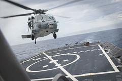 160501-N-FQ994-087 (CNE CNA C6F) Tags: destroyer mediterraneansea hsc28 mh60s knighthawk dragonwhales ussporterddg78