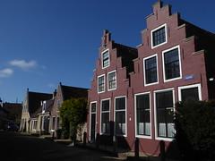 Harlingen, gabled facades (Alta alatis patent) Tags: houses red facade harlingen vijver gabled