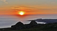 Refuge on the Hill _MG_1900 (Ronnierob) Tags: sunset sheep lambs foula stniniansisle shetlandisles scousburghhill