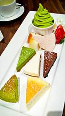Dessert Platter (alanosaur) Tags: original food toronto green cake cheese angel dessert japanese restaurant cafe strawberry soft tea chocolate uncle cheesecake meal matcha serve yuzu tetsu 2016