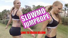 Bikini Model Jump Rope Slow Motion - GoPro 4 Black Edition PAWG (Mr SLOWMOTIVES) Tags: ass big teen booty blonde spandex petite slowmotion perky sportsbra bikinimodel pawg spandexgirls girlsinspandex