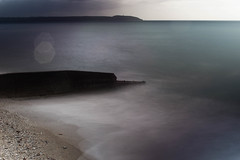 Charlestown At Dusk (garbourne) Tags: ocean uk sea mist beach coast sand cornwall waves harbour tide shore slowshutter charlestown southcoast hightide