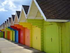 {121:365} Beach Huts (Conanetta) Tags: colour beach rainbow yorkshire huts scarborough mediumquality