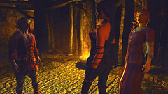 24 (Beth Amphetamines) Tags: wallpaper black hair high screenshot interesting mod fort erin elf armor thief prisoner cassius freed npcs skyrim altmer greymoor thief4 tembtra asarynn