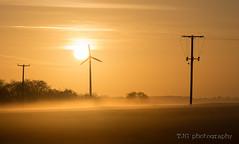 Wind turbine sunrise, Lansdown, Bath (T J G photography) Tags: sky mist sunrise bristol nikon bath wind nikkor 70200 turbine d610 lansdown