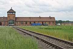 """The Railroad   to """"Gate of Death"""" - Auschwitz II-Birkenau (Esther Spektor - Thanks for 10+ millions views..) Tags: camp building field grass gate europe track poland auschwitz birkenau estherspektor"""