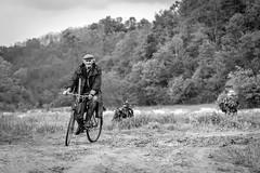 biking like a boss through a war zone