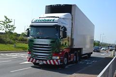 Eddie Stobart Scania PE64URL Amy Anna - Widnes (dwb transport photos) Tags: truck scania widnes hgv eddiestobart h2120 pe64url