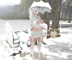 Shattered Dreams (RoxxyPink) Tags: life pink white 3 fashion umbrella dark hair blog truth mesh body head room style fair mandala skirt blogger dressing sl blueberry nails morte le secondlife empire blogging second heels drool muka the puki roxxy tdr arise maitreya gosee slink meshhead thedressingroom lemorte cynful meshbody ryca truthhair thedarkstylefair3 fashionuschies roxxypink uschies