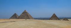 Three Greats! (kellyhackney1) Tags: love smog honeymoon pyramid memories egypt cairo pollution giza piccy happylove greatpyramidsofgiza 6yearsago
