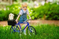 Summer is here (Alix Real) Tags: azone azonedoll azonejp azoneint int jp pure neemo s koron wolf little red riding hood otogi no kuni series 11 11th regular normal bike bicicle walk bokeh green doll dolls overalls