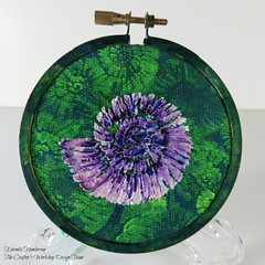 Nautilus Embroidery Hoop (Karenlizh) Tags: thecraftersworkshop stencils nautilus octopus embroidery hoop modeling paste