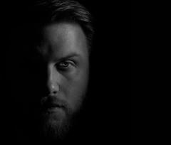 Portrait (kim.brakensiek) Tags: portrait people eye dark beard ernst hasselblad mann charakter schwarzweis