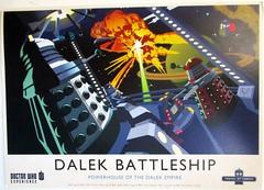 1606_Doctor Who-Dalek Battleshio_Nerdbird (Kille.wips) Tags: tv who postcard doctor series british tvshow