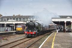 60103 Rhyl (Geoff Griffiths Doncaster) Tags: station wales train flying north engine cathedrals steam british locomotive express rhyl scotsman 4472 60103