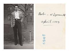 Bob (Goran Patlejch) Tags: found photo man 1949 1940s housingproject projects brick america newyork nyc usa