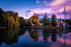 Ariana Lake in Sofia Bulgaria (sfabisuk) Tags: city pink sunset orange clouds amazing exposure sofia sony vivid pop bulgaria stunning