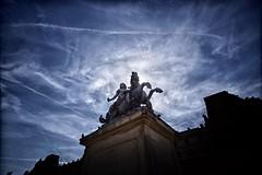 Louis XIV statue (marko.erman) Tags: sky sculpture sun paris france statue architecture clouds contrast louvre sony palaisdulouvre contrejour louisxiv