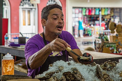 French Market Vendor (Tony Webster) Tags: portrait us louisiana unitedstates neworleans frenchquarter seafood vendor frenchmarket