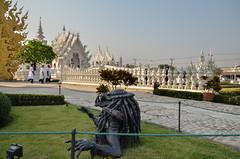 Preditor emerges at Wat Rong Khun (the white temple) (Phil Blackburn) Tags: white religious religion predator wat buddhisttemple thialand chiangrai mueangchiangrai