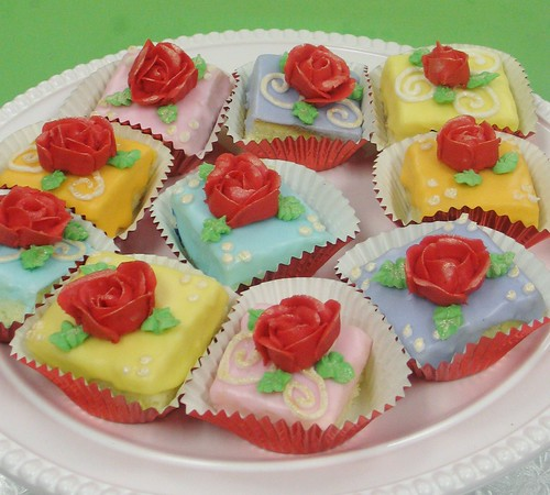 [Image from Flickr]:Rose Petit Fours