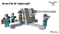 "88 mm Flak 36 ""eighty-eight"" WWII LEGO (MR. Jens) Tags: world two germany war wwii german ww2 18 88 36 flak 43 luftwaffe"