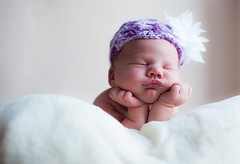 Experimenting with newborn baby portraits that incorporate cute hats. It's not as easy as it looks, I soon discovered... (Helen Morcom Photography) Tags: portrait baby crochet hats newborn knitted nikond700
