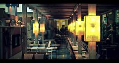 Further perspective. (Eduardo Berthier) Tags: dinner canon rebel lights restaurant chairs restaurante perspective tables luzes lamps 1855 jantar cadeiras mesas canon1855 lâmpadas 550d t2i kissx4 eduardoberthier