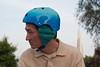 18384 Bike helmet earmuffs version 2, left side from front (geekstinkbreath) Tags: sanfrancisco me helmet yarn earmuffs russianhill earmuff bikehelmet bicyclehelmet earwarmers earwarmer minolta50mm nutcasehelmet nutcasehelmets
