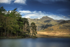 Blea Tarn (violinconcertono3) Tags: trees england lake mountains london water landscapes flickr unitedkingdom fineart lakedistrict lakeland langdale fineartphotography davidhenderson bleatarn langdalepikes fineartphotographer londonphotographer 19sixty3 19sixty3com