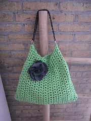 Handbag Isabella! (mariamarutska) Tags: green bag handmade crochet handbag owndesign ribbonxl