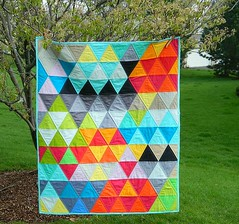 triangles (s.o.t.a.k handmade) Tags: modern triangles quilt mosaic solids quilting patchwork kona