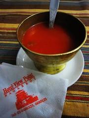 Tomato soup (MelindaChan ^..^) Tags: nepal food dinner tomato soup yummy mel eat meal melinda nagarkot restarant 尼泊爾 chanmelmel melindachan
