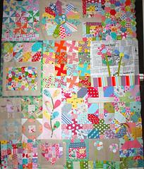 Quilt Progress (Roxy Creations) Tags: inspiration quilt sampler handmade linen fabric quiltblock farmerswife japanesequilt