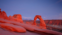 Delicate Arch: Afterglow (Shahid Durrani) Tags: park utah arch arches national delicate